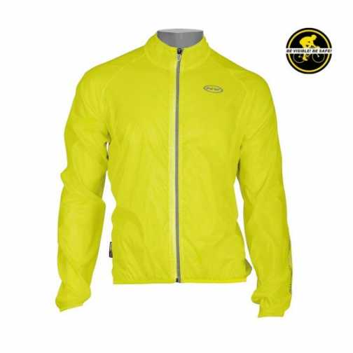 Mantellina Northwave Breeze antivento antipioggia giallo fluo