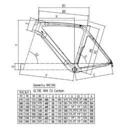 BIANCHI OLTRE XR4 DISC Frameset (Size 50, Tavolozza)
