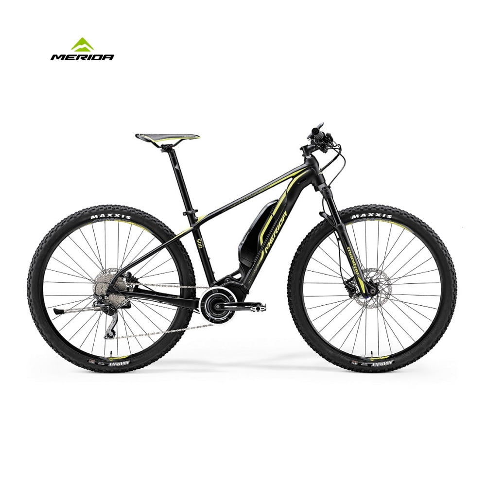 Ebike Ebig Nine 500 Merida 29 Matt Black Yellow