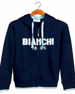 Bianchi Zip Hoodie 1885 Navy Blue (felpa con cappuccio)