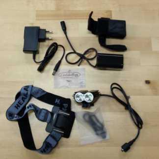 Faretto LED 2000Lumen TWIN HEADS (supporto bici, casco, walking)