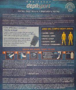 HIBROS Depilsport spray + Scrub (200ml)