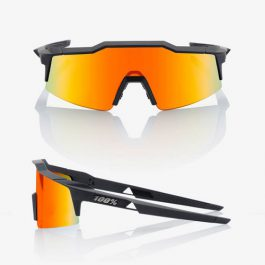 Occhiali Ride100% SPEEDCRAFT SL Soft Tact Black – HiPER Red Multilayer Mirror