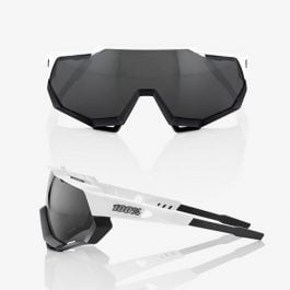 Sunglasses 100% SPEEDTRAP Matte White/Black – Smoke