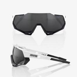 Occhiali 100% Speedtrap Matte White/Black – Smoke