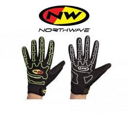 Gloves NORTHWAVE SKELETON FullFinger (summer, yellow black)