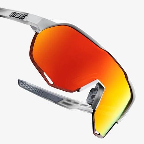 a215d359b05 Sunglasses100% S2 - Matte Off White - HiPER Red Multilayer Mirror