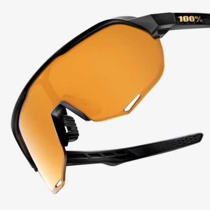 Occhiali 100% S2 - Matte Black - Flash Gold