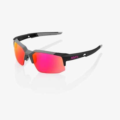 100% SPEEDCOUPE Soft Tact Graphite Purple Multilayer Mirror Occhiali da sole