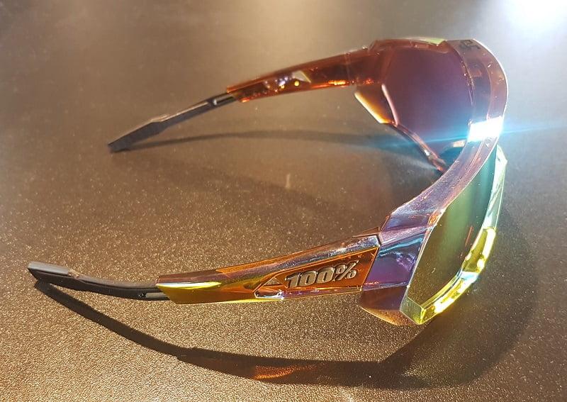 100/% Speedtrap Sagan LE Sunglasses Chromium Red HiPER Red Multilayer Mirror