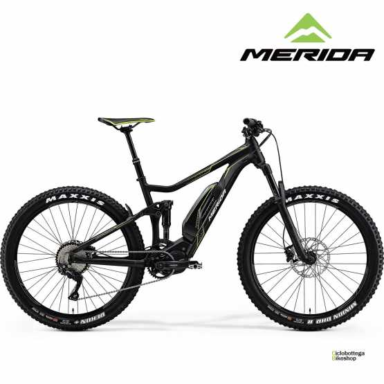 e-bike Merida eONE-TWENTY 500 matt black (green) Full Suspension