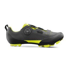 Fizik MTB Terra X5 shoes Grey – Yellow Fluo