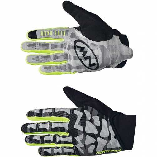 Northwave Skeleton Original Guanti Black - Yellow Fluo
