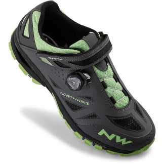 Northwave SPIDER PLUS 2 Scarpe Mtb (Anthra - Green)