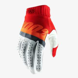 100% RIDEFIT Red/Fluo Orange/Slate Blue guanti ciclismo