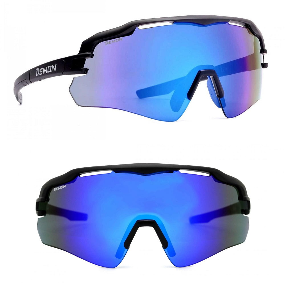 informazioni per 149a6 2b2bb Demon Imperial Occhiali da Ciclismo Multilayer Blu- Montatura Nero Opaco