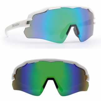 Demon Imperial Occhiali da Ciclismo Multilayer Verde - Montatura Bianca