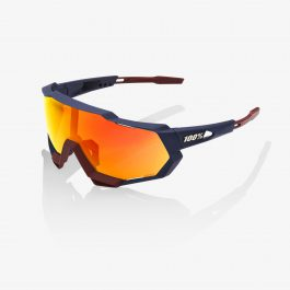 Sunglasses 100% Speedtrap Soft Tact Flume HiPER Red Multilayer Mirror Lens
