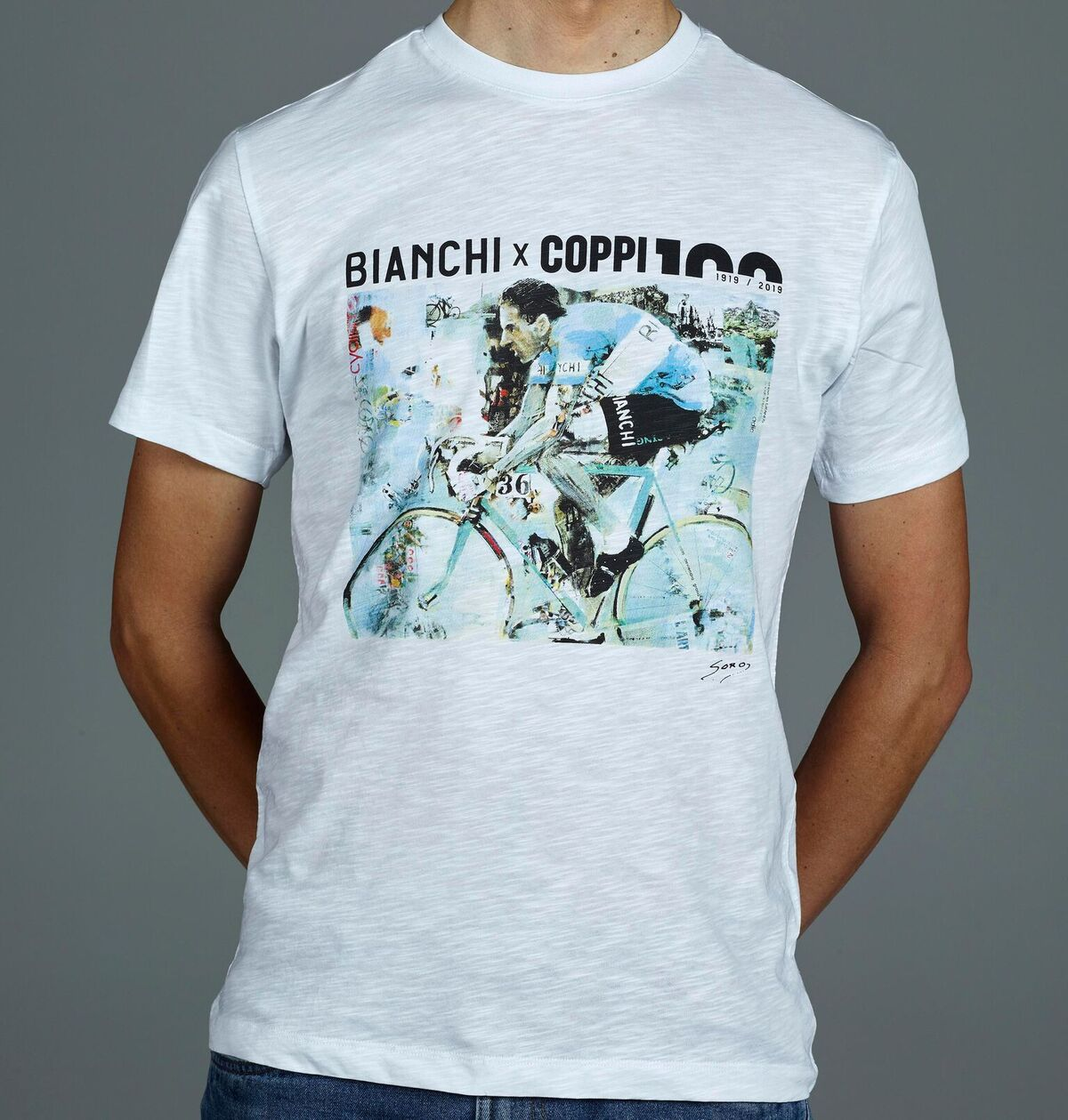Bianchi Coppi 100 T Shirt Limited Edition Ciclobottega Bikeshop