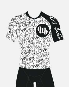MbWear Bike White jersey Granfondo