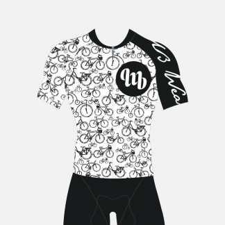 MbWear Bike White Maglia Ciclismo Estivo Linea Granfondo