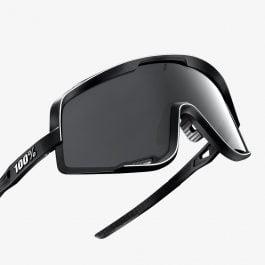 Sunglasses 100% GLENDALE Soft Tact Black Smoke Lens