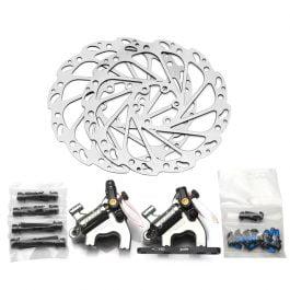 Juin-Tech F1 – Freni a disco idraulici, colore argento