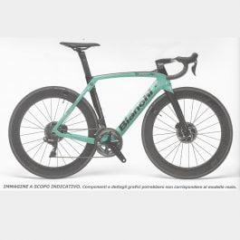 Bianchi Oltre XR4 Disc Ultegra Di2 11v 2020 Celeste Nero (Taglia 55)