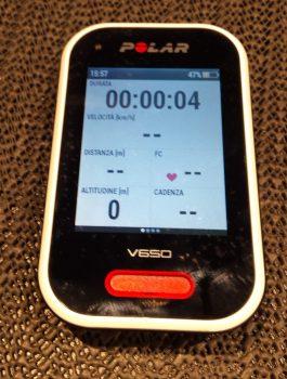 POLAR V650 Ciclocomputer GPS (Usato)