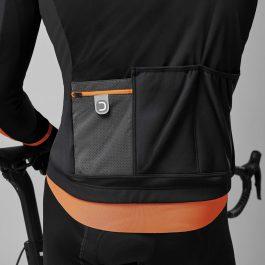 Dotout Antartica Wool Jacket – Nero Arancione Fluo