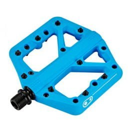 CrankBrothers Coppia Pedali Flat Stamp 1 Small- MTB Blue