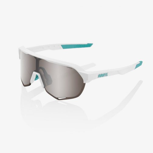 Occhiali 100% S2 SE BORA - hansgrohe Team White HiPER® Silver Mirror Lens