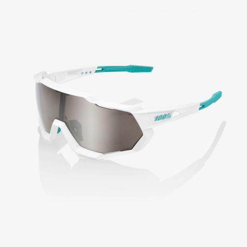 Occhiali 100% SpeedtrapSE BORA - hansgrohe Team WhiteHiPER Silver Mirror Lens