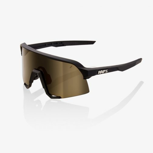 Occhiali 100% S3 Soft Tact Black Soft Gold Mirror Lens