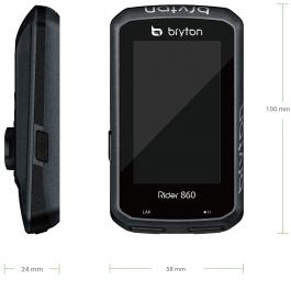 Bryton Rider 860E Ciclocomputer – con supporto frontale
