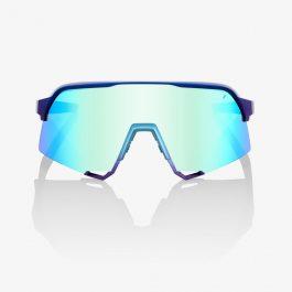 Occhiali 100% S3 – Matte Matallic Into the Fade Blue Topaz Multilayer Mirror Lens