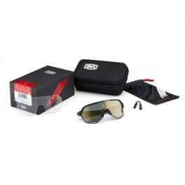 Occhiali 100% S2® BWR Black Soft Gold Mirror Lens Edizione Limitata
