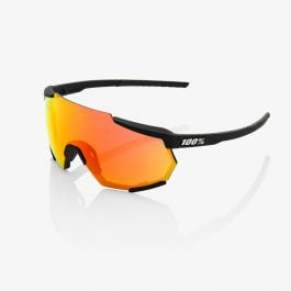 Occhiali 100% RACETRAP® Soft Tact Black HiPER® Red Multilayer Mirror Lens