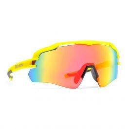 Demon Imperial Occhiali da Ciclismo giallo con lente specchiata