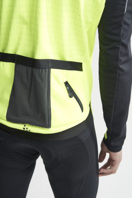 Craft Hale SubZ Jacket M giacca invernale da ciclismo Giallo